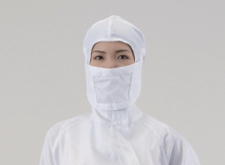 Hood and mask for cleanroom