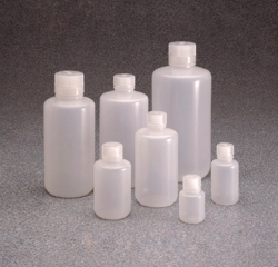 Narrow-mouth bottles Nalgene™, with closure, LDPE