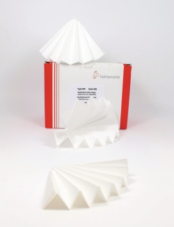 Filter paper, qualitative, folded filters