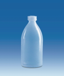 Narrow-mouth bottles, with screw cap, LDPE