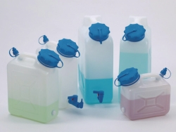 Wide-necked jerrycans, HDPE, with UV stabilised