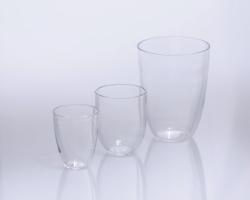 Crucibles, quartz glass, tall form