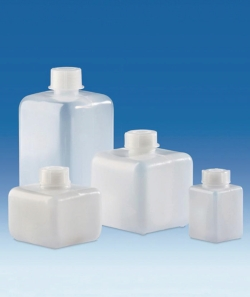 Narrow-mouth bottles, HDPE, with screw cap, PP