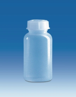 Wide-mouth bottles with screw cap, LDPE