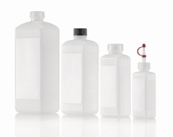 Square bottles, HDPE and PVC, series 310
