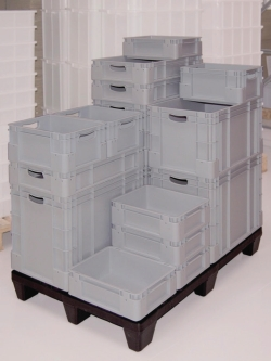 Stacking and storage containers, PP