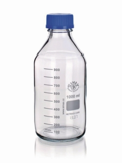 Laboratory bottles, GL45, borosilicate glass 3.3