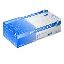 Disposable Gloves Soft Nitril Blue 300, Nitrile, Powder-Free