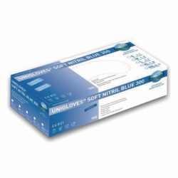Disposable Gloves Soft Nitril Blue 300, Nitrile, Powder-Free