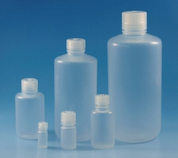 Narrow-mouth bottles Nalgene™, with screw cap, PP