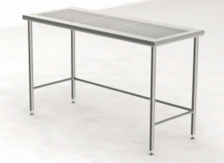 Cleanroom Tables with Perforated Worktop
