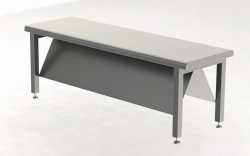 Sit-over benches, stainless steel, diagonally