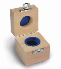 Wooden boxes for calibration weights, classes E1, E2, F1