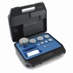 Weight set E2, compact shape, with plastic case