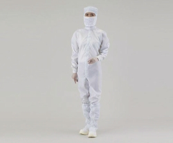 Overall for cleanroom ASPURE, polyester, with integrated hood