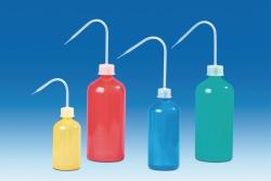 Coloured wash-bottles, narrow-neck, PE- LD