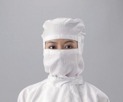 Hoods ASPURE, for cleanroom overalls, Polyester, with integrated mask