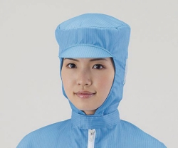 Hoods ASPURE, for cleanroom, Polyester, with protective cushioning