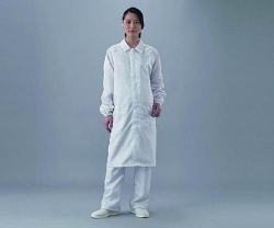 Laboratory coat ASPURE, for cleanroom, Polyester, with zip