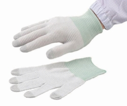 Conductive Gloves ASPURE LINE, Anti-static, white, Nylon