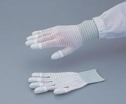 Conductive Gloves ASPURE LINE PU-coated, white, Anti-static, Nylon