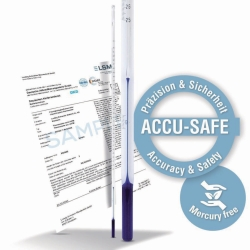 Precision thermometer ACCU-SAFE, similar ASTM, calibratable, stem type