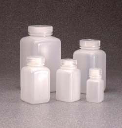 Square bottles, wide-mouth HDPE
