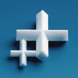 Magnetic stirring bars, PTFE, cross shape