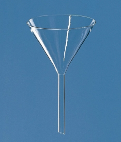 Funnels, Borosilicate glass 3.3., plain