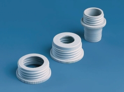 Bottle-thread adapters, PP and ETFE