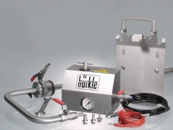 Withdrawal systems for solvents, stainless steel