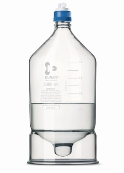 HPLC reservoir bottles DURAN®, borosilicate 3.3 glass, with conical base