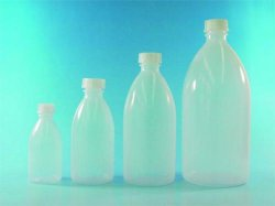 LLG-Narrow-mouth bottles with cap, LDPE, economy pack