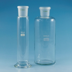 Gas wash bottle reservoirs borosilicate glass 3.3