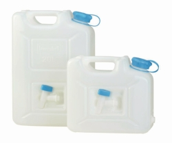 Jerrycan with integrated spout, PE-HD