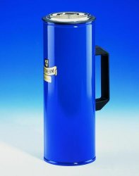 Dewar flasks, cylindrical, with side grip