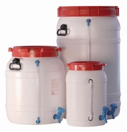 Kegs, wide mouth, HDPE