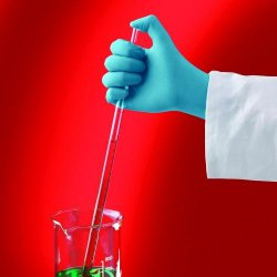 Disposable Gloves Touch N Tuff® Blue, Nitrile, Powder-Free