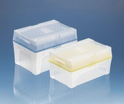 Pipette tips, racked in Tip-Box, sterile, Bio-Cert®