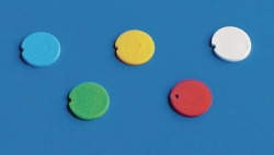 Colored cap inserts, PP, for reaction tubes